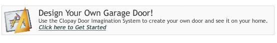 Design your garage door or entry door with our Visualizer tool.